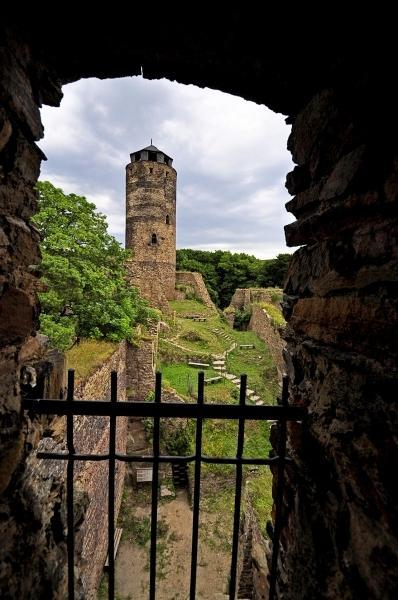 hrad Hasištejn - pohled z okna
