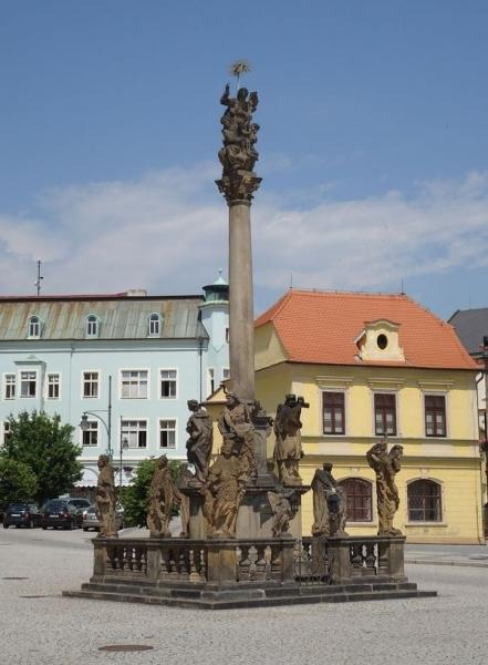 Chomutov náměstí - morový sloup