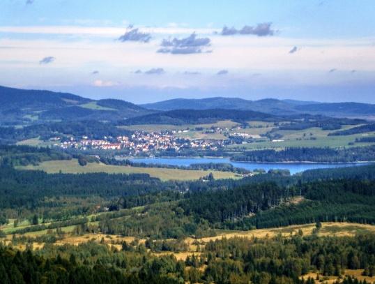 Moldaublick a Alpenblick
