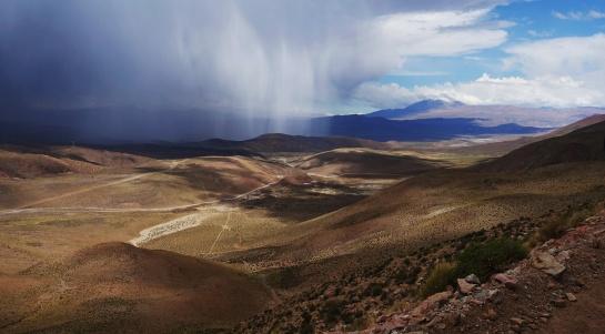 bouřka v Andách