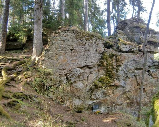 Zřícenina hradu Hus