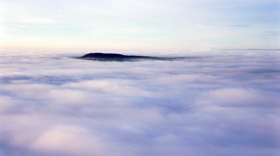 Mlžné moře z Milešovky