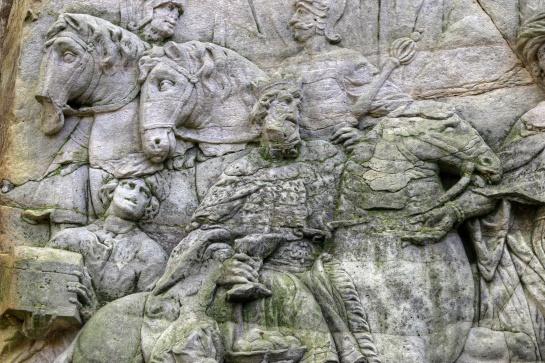 Braunův Betlém - Příjezd tří králů - detail