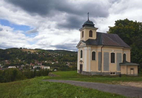 Kostelík sv.Jana Nepomuckého na Poušti - Železný Brod