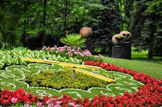 Květinové hodiny - lázně Poděbrady