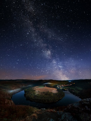 Mléčná dráha nad Solenickou podkovou