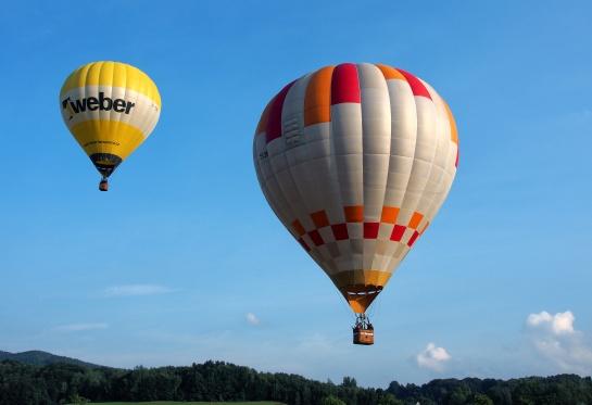 Balony nad krajinou v Jitravě