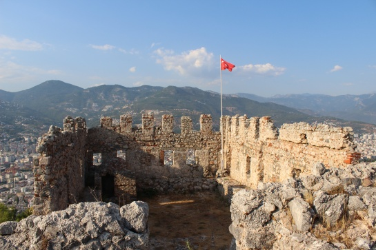 Pevnost nad městem Alanya