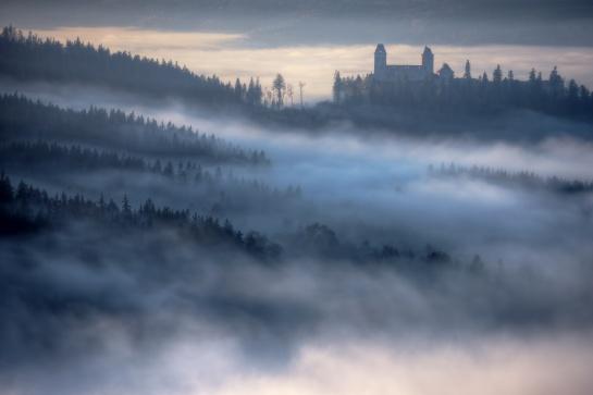 Pohled na hrad Kašperk