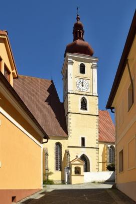 Trhové Sviny, kostel Nanebevzetí Panny Marie