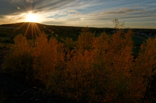 západ slunce , Příbramsko