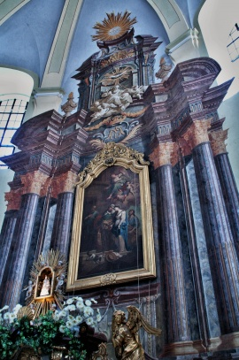 Hejnice Chrám Navštívení Panny Marie - hlavní oltář