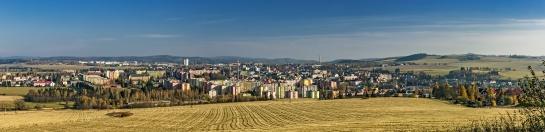 Panorama města Bruntál
