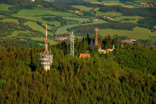 Vysílač a rozhledna Svatobor 845 m n. m.