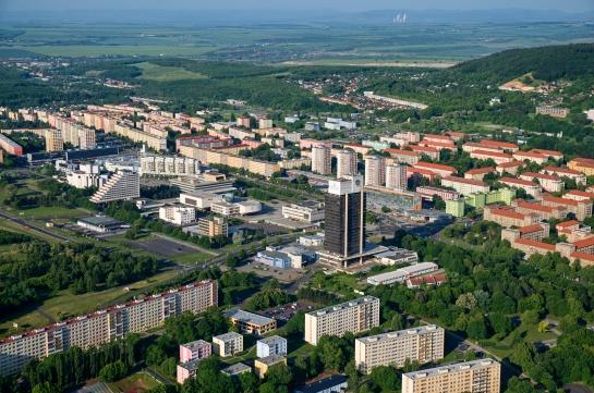 Pohled na centrum města - Most