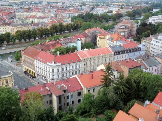 Hradec Králové pohled z Bílé věže