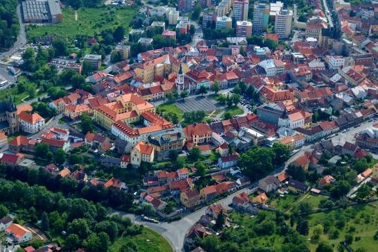 Slaný - letecký snímek
